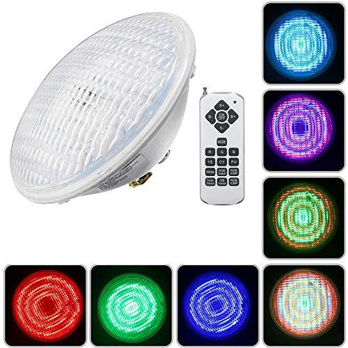ERCZYO 30W Par56 RGB LED Unterwasser Wasserdichte Schwimmbecken Licht IP68 Fernbedienung Atmostphere Licht ERCZYO