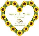 Hochzeitsherz zum Ausschneiden für das Brautpaar personalisiert mit den Namen und dem Datum für das Hochzeitsspiel oder zur Hochzeitsdekoration! Für Sie als Einzelstück mit persönlichem Glückwunschtext gedruckt, gerne in einer Sprache Ihrer Wahl.