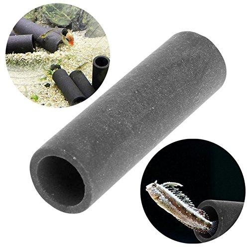 Lottoy® 1/3/5 Stück Keramik Aquarium Shelter Versteckt Zucht Cave Shelter Rohr 4,8 cm x 1,5 cm Für Aquarium Aquarium Garnelen Spawn (1)