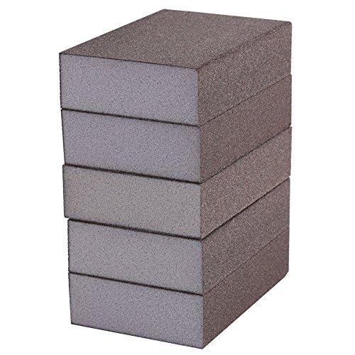 5 Stücke Schleifschwamm Polieren Schleifkorn Schleifblock Pad Schleifpapier Schleifwerkzeug 7 × 10 × 2,5 cm(Feine Nummer 120 (400-600 #))