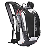 LOCAL LION Fahrradrucksack Trinkrucksack Reiserucksack Sportrucksack Tagesrucksack Alltags Daypacks Backpack Outdoor Ultraleicht Unisex 18L, Schwarz