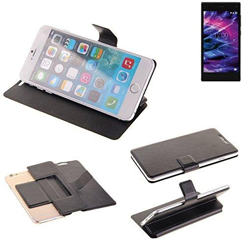 K-S-Trade Schutz Hülle für Medion Life P5005 Schutzhülle Flip Cover Handy Wallet Case Slim Handyhülle bookstyle schwarz
