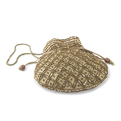 Funkia™ Ethnic, Designer Potli style clutch with sequins & bead work goes...