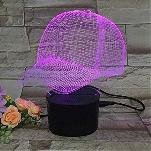Nachtlicht Baseball Cap Illusion Light 3D 5-Farben-Farbverlauf Umgebungslicht Kreative Bluetooth-Lautsprecher Schwarz Basis