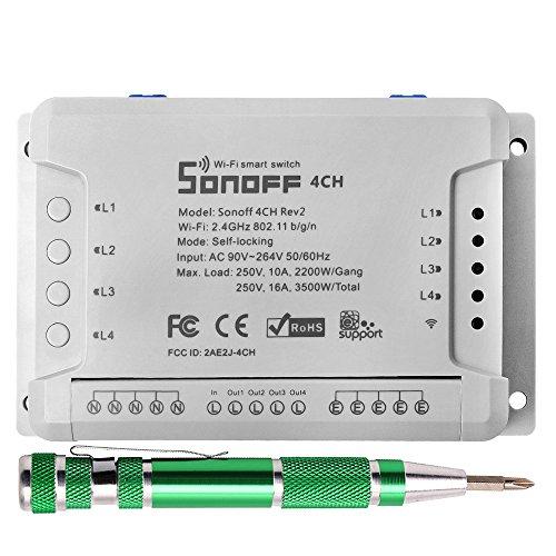Sonoff 4CH R2 Interruptor Remoto WIFI Smart Switch