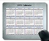 Yanteng Tapis de Souris Calendrier 2019 personnalisé, Calendrier 368 Tapis de Souris de Jeu, Agenda 2019 avec détails
