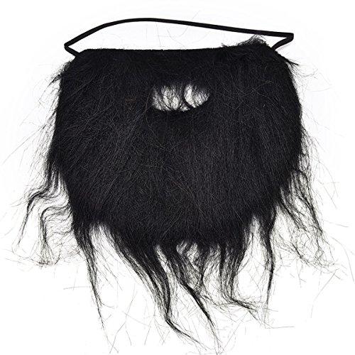(Queenbox® Gefälschter Bart-Hipster-Schnurrbart für Kostümparty Cosplay Zubehör Gesichtshaar Weiß Schwarz Braun)