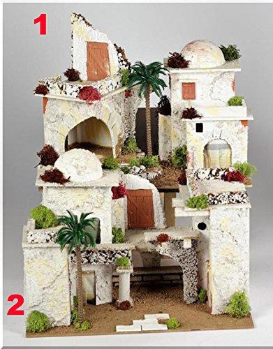 1 casa araba 33x18x24cm edifici accessori presepe classico