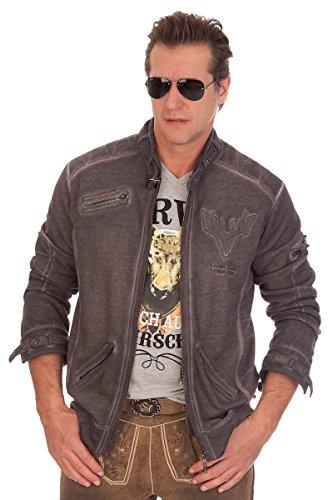 Trachten Sweaterjacke - TOM - grau, Größe XS
