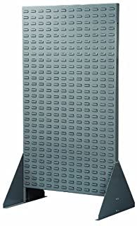 Akro-Mils 30676 36-Inch Width by 66-1/4-Inch Height by 25-Inch Diameter Double Sided Louvered Steel Floor Rack for mounting AkroBins, Grey (B004I1K0AC) | Amazon price tracker / tracking, Amazon price history charts, Amazon price watches, Amazon price drop alerts