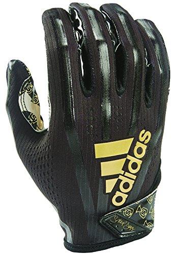 adidas AF1006Adizero 7.0Stöbern Sie Geld Tasche Empfänger Handschuhe, groß, Schwarz