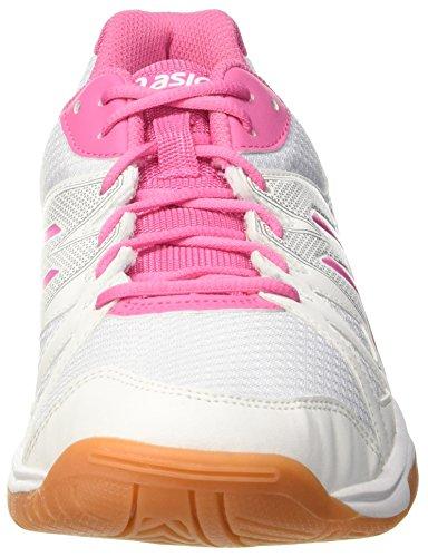 Asics Gel-upcourt, Gymnastique mixte adulte Bianco (White/Azalea Pink/White)