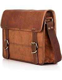 Cartable Cuir Véritable BERLINER BAGS Sac en bandoulière York travail, école 13,5 pouces Hommes Femmes Medium M Vintage