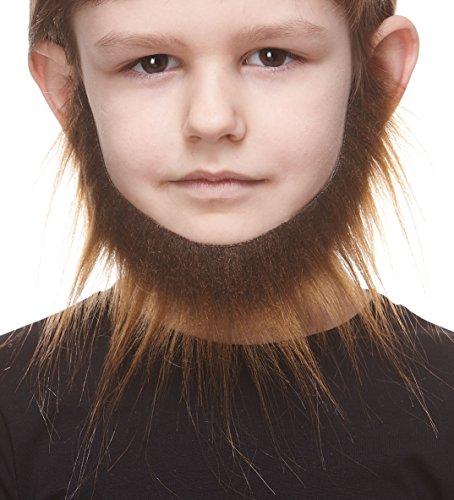Einzigartige Kostüm Kinder - Mustaches Selbstklebende Kleiner Morman Fälschen Bart für Kinder Braun Farbe