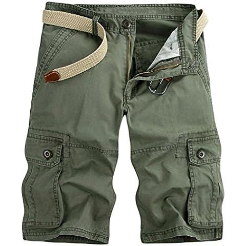 Casual HAHOME mimetico militare pantaloni corti da uomo da Cargo mimetico militare pantaloncini (cintura non inclusa) 28 29 30 31 32 34 36 38