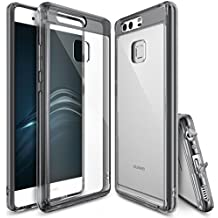 Funda Huawei P9, Ringke [FUSION] Choque Absorción TPU Parachoques [Choque Tecnología Absorción][Conviviente tapón antipolvo] para Huawei P9 - Smoke Black