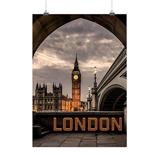 Kostüme Rock Berühmten Star (London Berühmt Setzt Uhr Turm Mattes/Glänzende Plakat A3 (42cm x 30cm) |)
