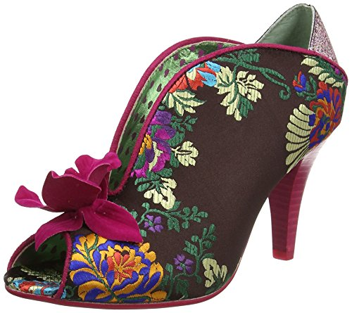 Poetic Licence by Irregular Choice Shanghai Surprise - Peep-Toe - Femme Multicolore (Burgundy)