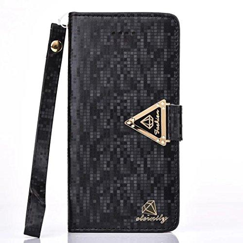 Vandot Ultra Slim Per Iphone 8 Custodia in Pelle ,Portafoglio Porta Carte e Protettiva, Flip Case per Iphone 8 Cover + 1 X Hairball Cinturino + 1 X Penna-Tigre Bianca Diamants-6