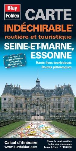Seine-et-Marne (77), Essonne (91). Carte Départementale, Routière et Touristique (échelle : 1/180 000)