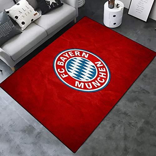 INSTUS Teppich Creative Einfach Kunst Dekoration Teppich Fußball Verein Logo Drucken Rutschfeste Matte Geeignet für Restaurants Wohnzimmer Schlafzimmer/Bayern / 140 * 200cm -
