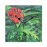 XiangHeFu Horloge Murale carrée 20,3 x 20,3 cm Motif Coccinelle