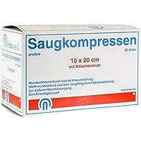 SAUGKOMPRESSEN 10x20 cm unsteril 25 St Kompressen preisvergleich bei billige-tabletten.eu