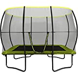 Rebo 10 X 7FT Base Jump 2 Rectangular Trampoline With Halo II Enclosure