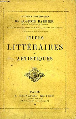 ETUDES LITTERAIRES ET ARTISTIQUES