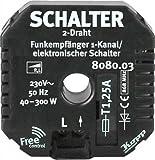KOPP UP 8080.0302.9 Funk-Empf�nger 1K/2D./ Triac, schwarz, 40-300W
