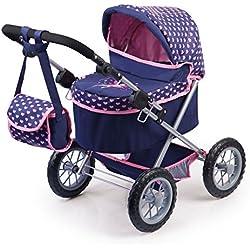 Bayer Design - Cochecito de muñeca, Trendy, color azul, rosa (13052AA)
