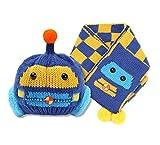 Coche Bufanda Y Gorro Set De 2 Caliente Para Bebés Niños Niñas Lindo Sombreros Azul Marino Talla-Única
