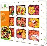 Au Sycomore- attività Creative Bambini-Perle in Legno per Collane e Braccialetti-Cofanetto Arancione-A Partire dai 3 anni-Sycomore-CRE33131, CRE33131