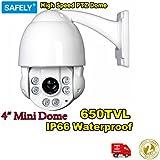 650TVL Zoom optique 10x 1/7,6cm Sony Effio vue 11,4cm Mini extérieur ir Jour/Nuit CCD Caméra dôme PTZ haute vitesse