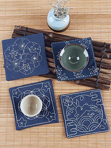 JKKC Stickerei DIY handgemachter Tee Coaster kreatives Geschenk Dorn Stickerei Band Stickerei Erwachsene anfänger Material Paket Su Stickerei