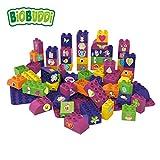 BiOBUDDi BB-0009 Lernbausteine-Set Girls; biologische Bausteine Zum Stecken Kompatibel zu Anderen Marken; Hergestellt aus Bio-Kunststoff; Zwei Grundplatten; Besonders Umweltfreundlich; ab 1,5 Jahren