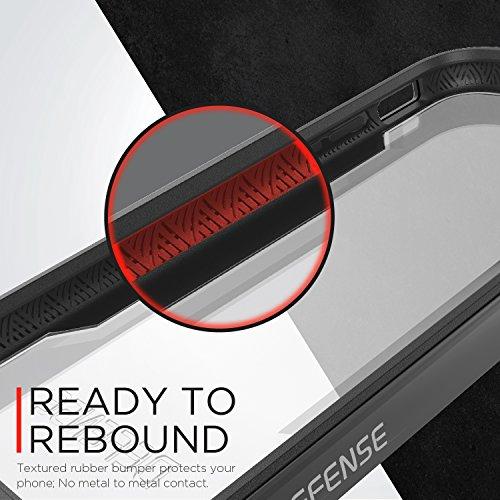 Coque Defense de X-Doria pour iPhone 7 (Defense Shield), Coque pour iPhone testé pour les chutes de 2m et integrant la norme militaire, Coque de protection de première qualité en aluminium et en TPU., Gris