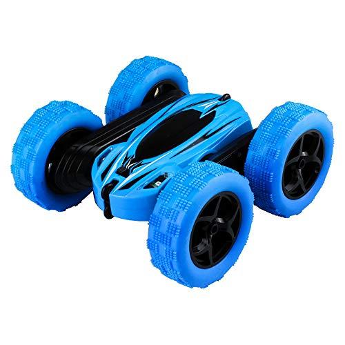 Fulltime E-Gadget Ferngesteuertes Auto ,Kinder 360 ° drehen Stunt Auto Modell 7km / h RC 4WD High-Speed-Fernbedienung Off-Road-Spielzeug (Blau)