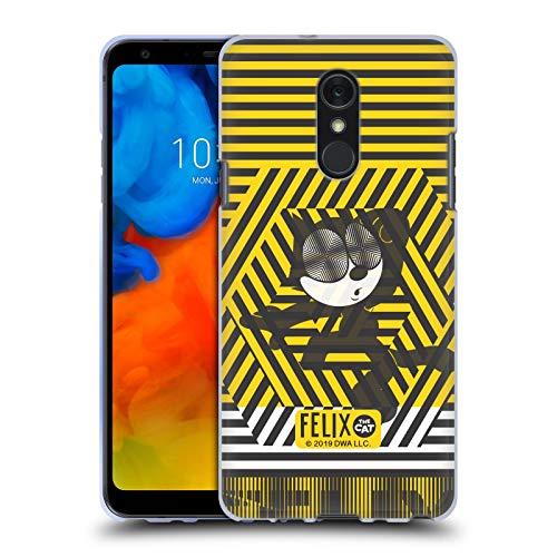 Head Case Designs Offizielle Felix The Cat Streifen Farbig Soft Gel Huelle kompatibel mit LG Q Stylus/Q Stylo 4 Str Stylus