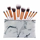 Türkei 10 Marmor Linien Make-up-Pinsel Cosmetics Professional Essential-Set für Puder Foundation Lidschatten Eyeliner Lip Kits Puder Liquid creme Cosmetics Blender Pinsel mit einer Tasche