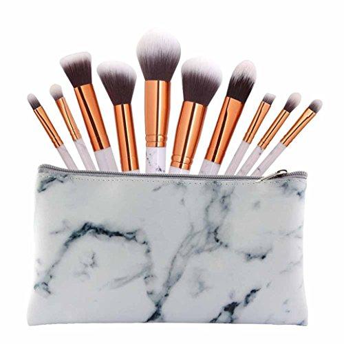 Türkei 10Marmor Linien Make-up-Pinsel Cosmetics Professional Essential-Set für Puder Foundation...