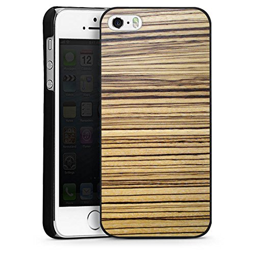 Apple iPhone 5c Housse Outdoor Étui militaire Coque Bois de pin Look bois Pin CasDur noir