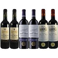 Le Wine Club Bordeaux Millesime Exceptionnel Château Haut Maurin 2015/ Château Prince Larquey 2015/ Château Rosé du Pont 2015 75 cl, Boîte de 6 Grands Vins