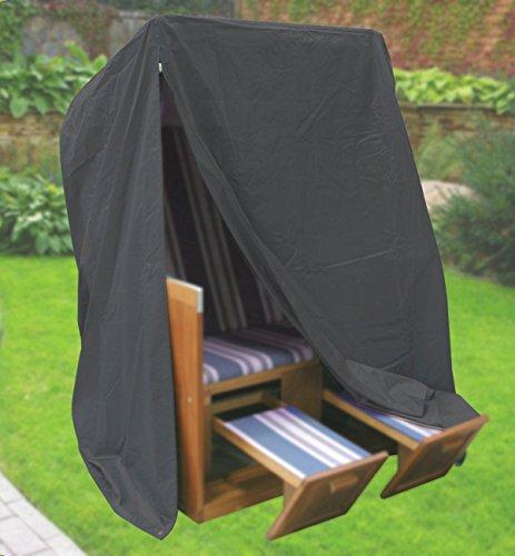 Fachhandel-Plus 406226 Komfort Schutzhülle für Strandkorb, Anthrazit, 170 x 153 x 105 cm