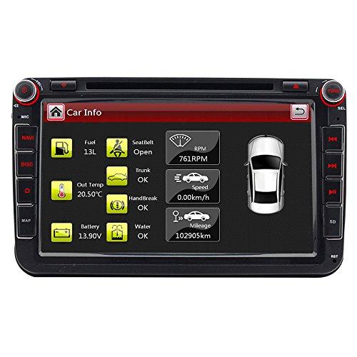 A-Sure 8 Zoll 2 Din 3G DAB+ Autoradio Navi DVD GPS VMCD Bluetooth FM Radio RDS Für VW Passat Golf 5 6 Touran Tiguan Transporter Multivan T5 Polo Jetta Caddy Skoda Seat Altea Z58W7 2-Jahre-Garantie