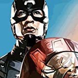 #10: 100yellow Captain America Quote Printed Unframed Canvas Wall Painting- 12 x 12 Inch