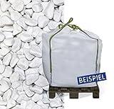 Hamann Marmorkies Carrara 12-16 mm Big Bag 600 kg - Mit kreativen Ideen kann jeder Garten durch Zierkies und Naturstein aufgewertet und edel gestaltet werden.