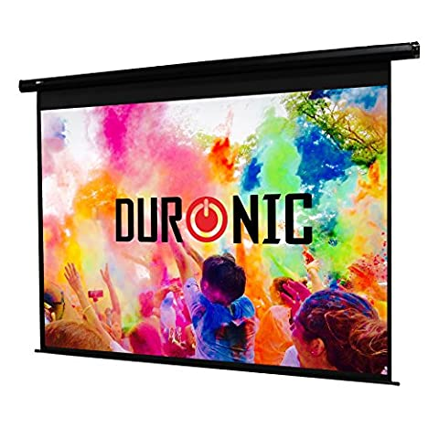 Duronic EPS60/43 HD Home | School | Theatre | Cinema | Home Projector Screen (Size: 122cm(w) X 91cm(h)) - 4:3 Matte White Screen - Electric Motorised switch control