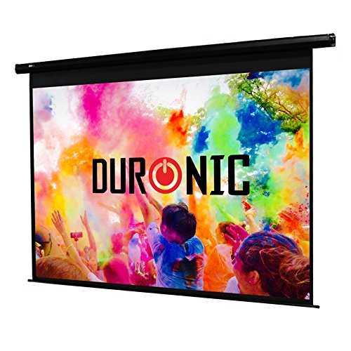Duronic EPS60/43 HD Home Office | School | Theatre | Cinema | Home Projector Screen (Size: 122cm(w) X 91cm(h)) - 4:3 Matte White Screen - Electric Motorised switch control