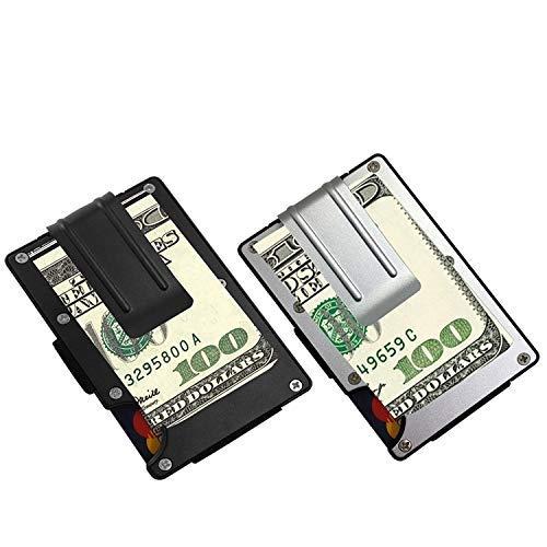Aluminium Geldbörse RFID-blockierender, sourceton puristisches vorne Wallet 2Pcs, Kreditkarte Halter Geld Clip - Clip Pc